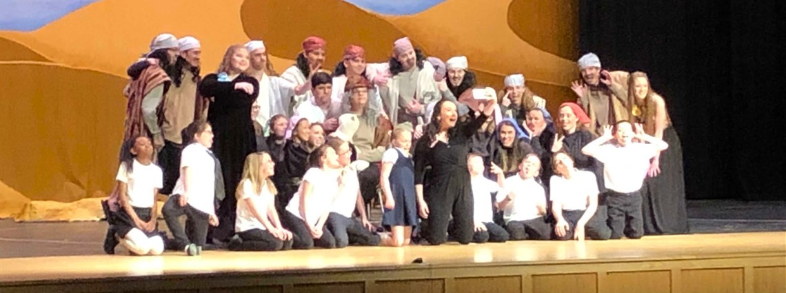 "High School Musical ""Joseph and the Amazing Technicolor Dreamcoat"" cast. Wonderful  show and enjoyed by all who attended. Great Job!"
